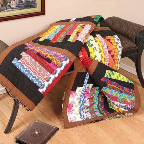 Library Quilted Bed Quilt: King