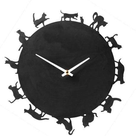 Cat Silhouettes Clock