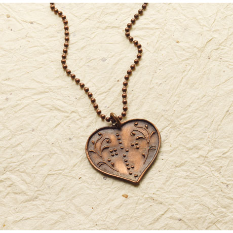 Braille God Is Love Necklace