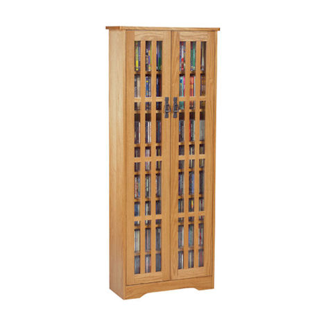 Mission Style Media Storage Cabinets - 2 Door