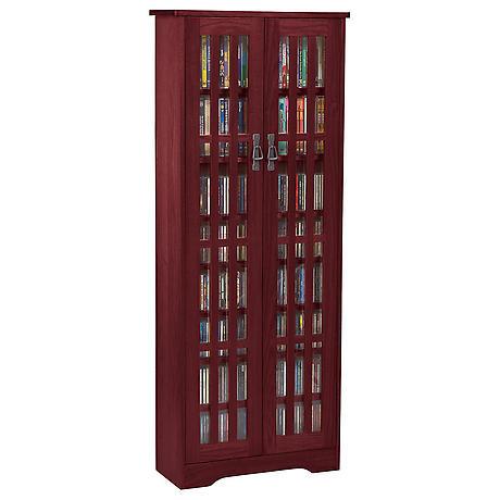 Mission Style Media Storage Cabinets - 2 Door