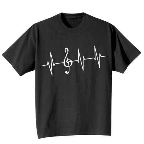 Music Lover EKG Shirts