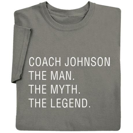 Personalized Man, Myth, Legend Shirt