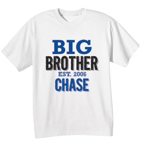 Personalized Big, Middle, and Baby Brother Shirts
