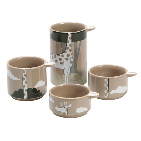 Stackable Giraffe Measuring Cups - Set of Four