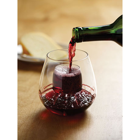 Aerating Wine Glass - Stemless