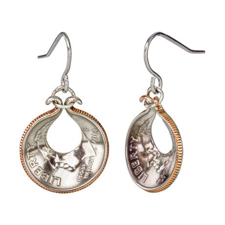 Oyster Shell Dime Earrings