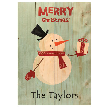 Personalized Retro Santa Wood Sign