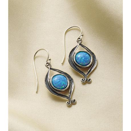 Opal Fire Earrings