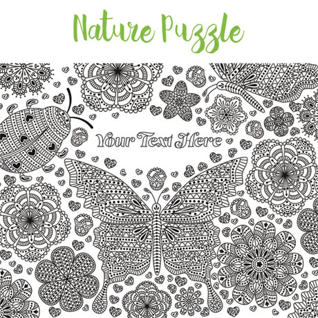 Personalized Pieceful Puzzle: Nature