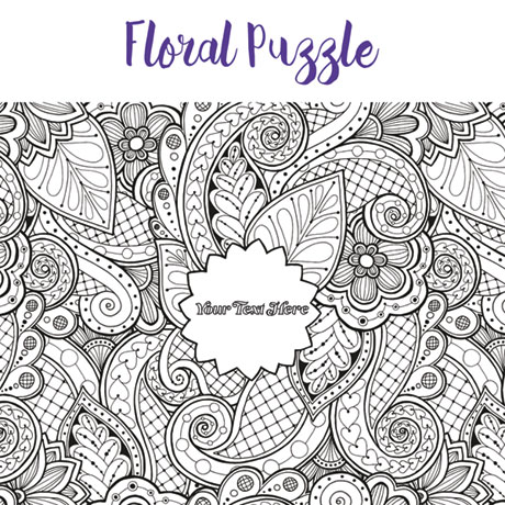 Personalized Pieceful Puzzle: Floral