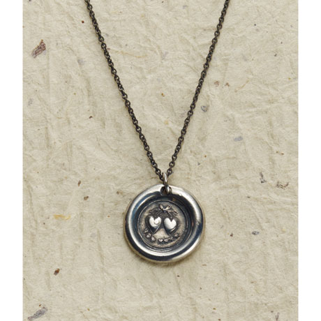 Vintage Wax Seal Pendant - Forever