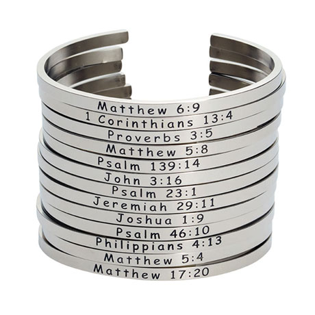 Stainless Steel Bible Verse Bracelets