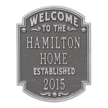 "Personalized ""Welcome to Our House"" Wall Plaque"