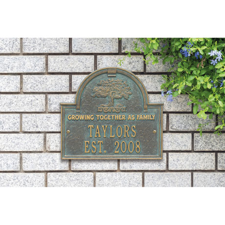 Personalized Family Tree Anniversary Plaque
