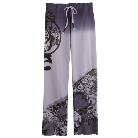 Asian Print Lounge Pants - Lilac Purple