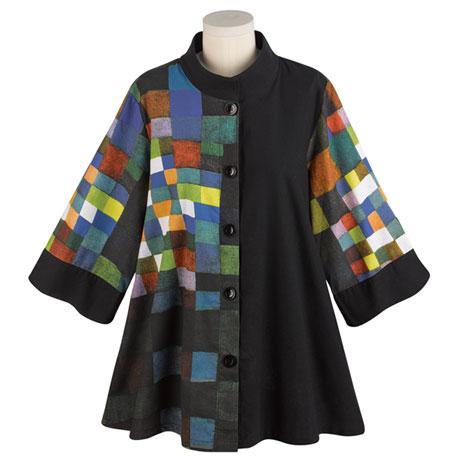 Paul Klee Button Down Swing Jacket