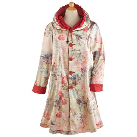 Red Reversible Raincoat