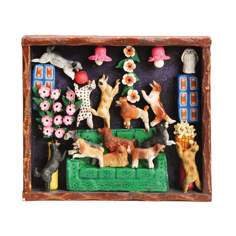 Handcrafted House of Dogs Retablo Frame