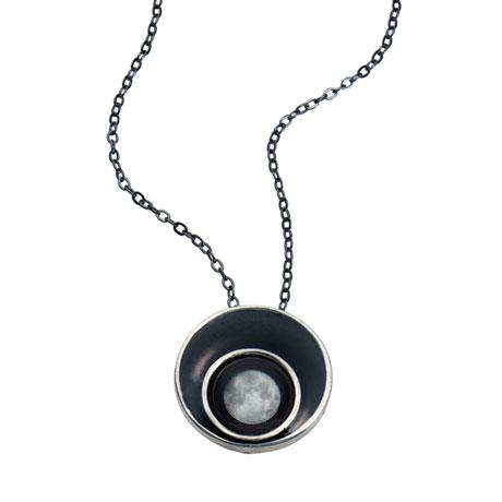 Half Moon Moonglow Orbit Necklace
