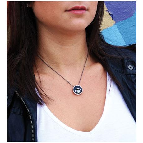 Full Moon Moonglow Orbit Necklace