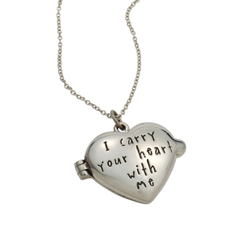Sterling Silver I Carry Your Heart With Me Locket
