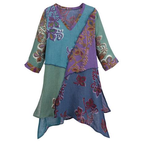 Batik Linen Tunic