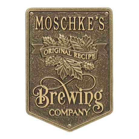 Personalized Original Recipe Brewing Company Plaque