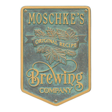 Personalized Original Recipe Brewing Company Plaque