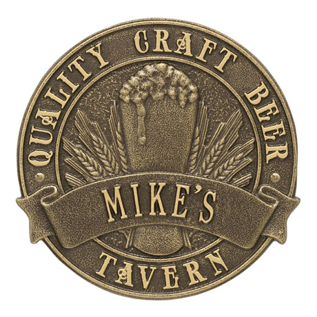 Personalized Quality Craft Beer Tavern Plaque