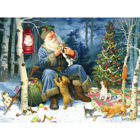 Old World Santa Family 400 piece Jigsaw Puzzle