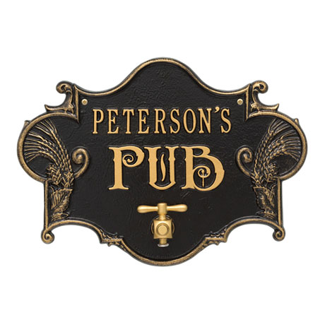 Personalized Hops & Barley Pub Plaque