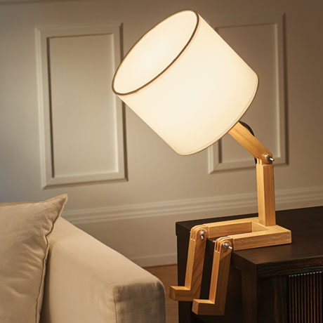 Louie the Lamp - Wooden Man-Shaped Light Fixture