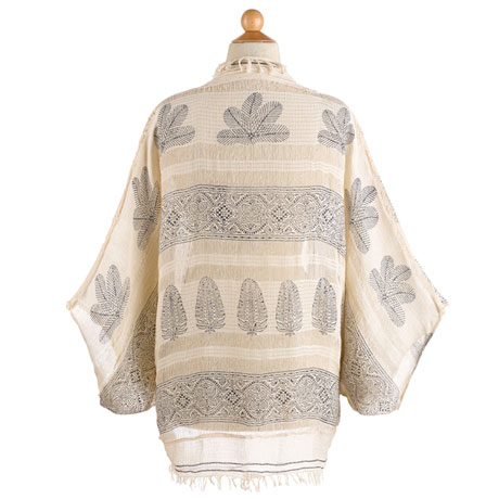 Hand-Printed Cocoon Wrap