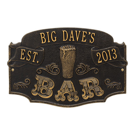 Personalized Established Bar Plaque
