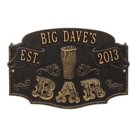 Personalized Established Bar Plaque