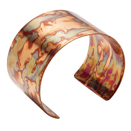 Flamed Copper Cuff Bracelet