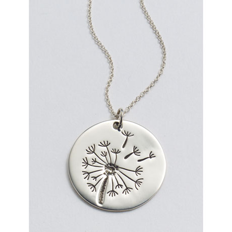 Field of Wishes Sterling Silver Pendant Necklace