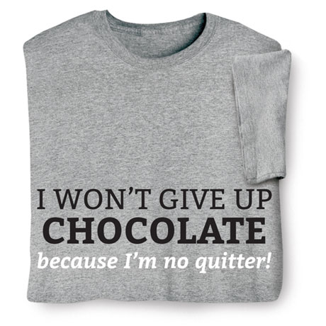 "Personalized I Won't Give Up ""___"" Because I'm No Quitter! Shirts"