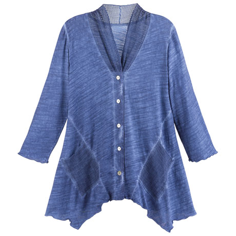 Denim Blue Knit Tunic