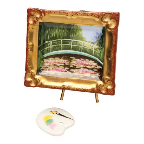 "Genuine Limoges Box with Monet's ""Japanese Footbridge"""