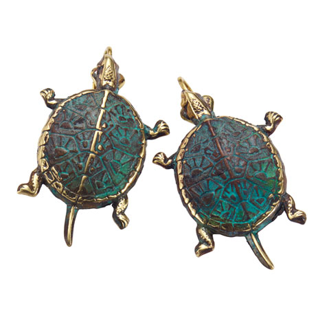 Box Turtle Earrings