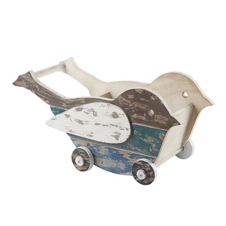 Wooden Bird Cart