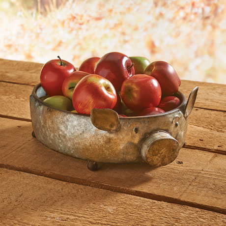 Galvanized Pig Bowl