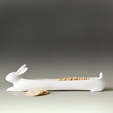 White Rabbit Cracker Dish