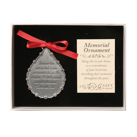 """Engraved """"Come With Me"""" Ornament"""