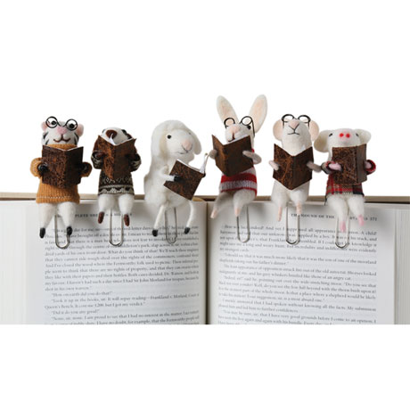 Felted Wool Animal Bookmarks