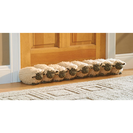 """32"""" Decorative Sheep Door Draft Stopper Guard - Block Under Door Drafts"""