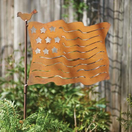 United States Flag Garden Stake
