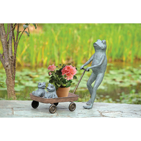 Frog Family Sculpture